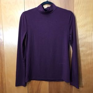 F21 | Purple Mock Neck Long Sleeve Top Size L